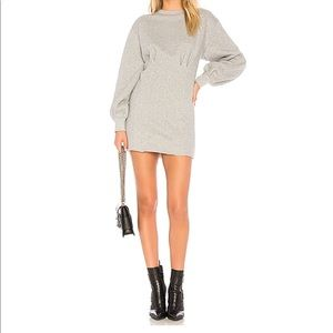 Margot Fleece Dress Heather Grey NWT